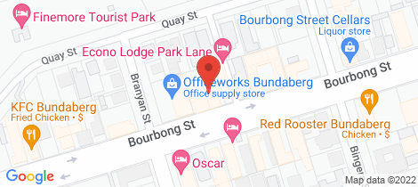 Location map for B/249 Bourbong Sreet Bundaberg South