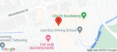 Location map for 66 Targo Street Bundaberg