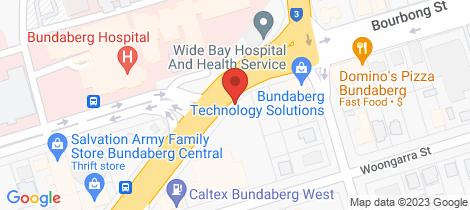 Location map for 1/48 Takalvan Street Bundaberg West