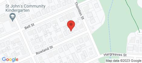 Location map for 5 Rowland Street Bundaberg South