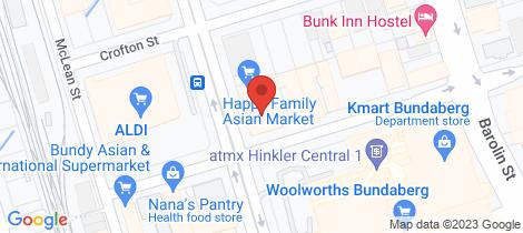 Location map for 14 Maryborough Street Bundaberg Central