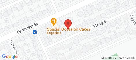 Location map for 9 Pizzey Street Kepnock