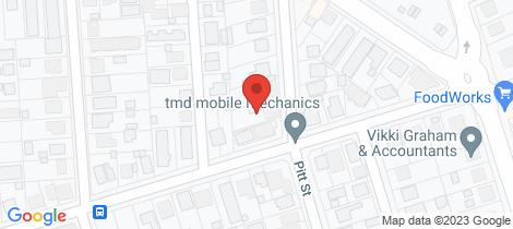 Location map for 13 Pitt Street Bundaberg South