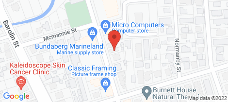 Location map for 90 Targo Street Bundaberg South