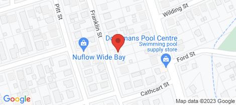 Location map for 12 Franklin Street Bundaberg South
