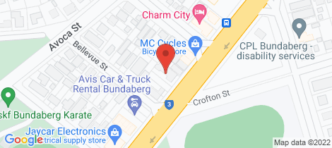 Location map for 29 Takalvan Street Bundaberg West