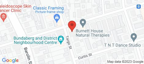 Location map for 96 Targo Street Bundaberg South