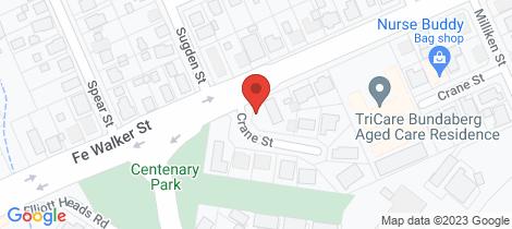 Location map for 10 Crane Street Kepnock