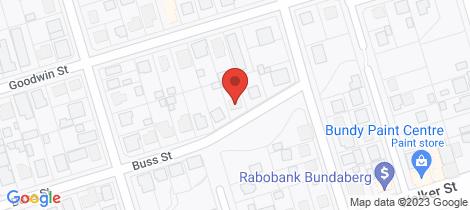 Location map for 1A Buss Street... Bundaberg South
