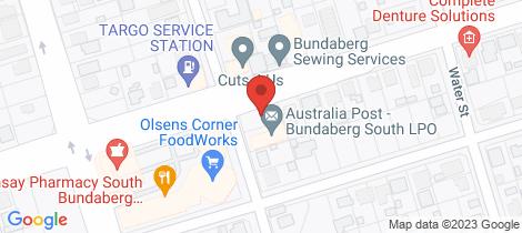 Location map for 6/54 Walker Street Bundaberg South