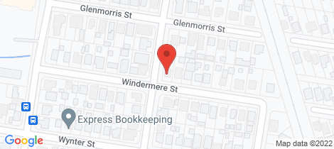 Location map for 33 Windermere Street... Norville