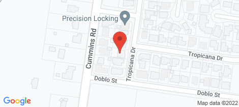 Location map for 2B Tropicana Drive Avoca