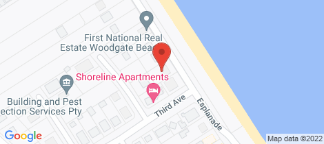 Location map for 143 The Esplanade Woodgate