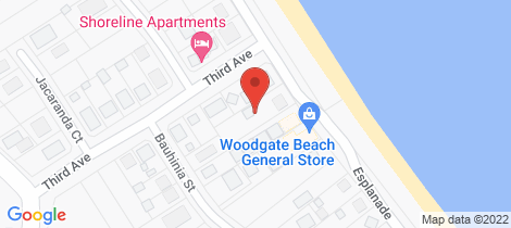 Location map for 140 The Esplanade Woodgate