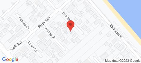 Location map for 9 Oak Street Woodgate