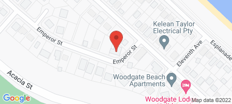 Location map for 2 Emperor Street Woodgate