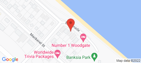Location map for 6 Esplanade Woodgate