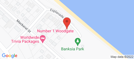 Location map for 1 The Esplanade Woodgate