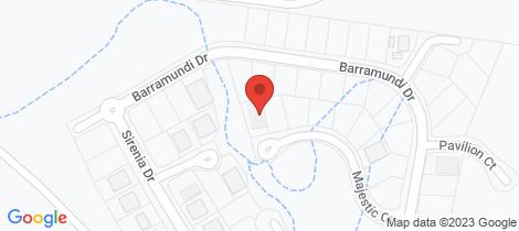 Location map for 17 Majestic Crt Burrum Heads