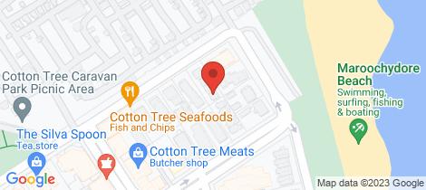 Location map for 3/7 Cotton Tree Parade Maroochydore