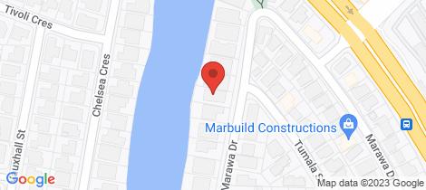 Location map for 23 Marawa Drive Parrearra