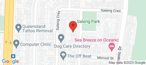 Location map for 6a Benalla Street Warana