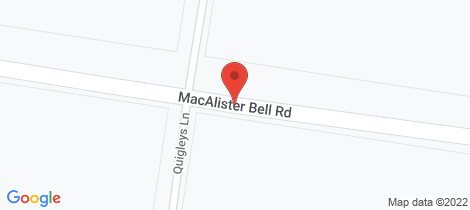 Location map for Lot 401 Macalister Bell Road Bell