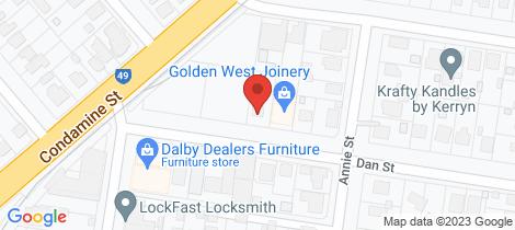 Location map for 1 Dan Street Dalby