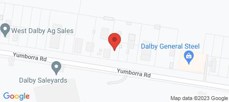 Location map for 36 Yumborra Road Dalby