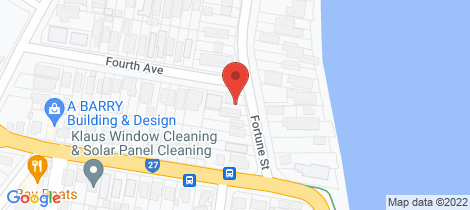 Location map for 9 Fortune Street Scarborough