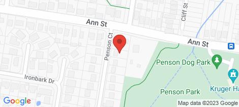 Location map for 3 Penson Court Kallangur