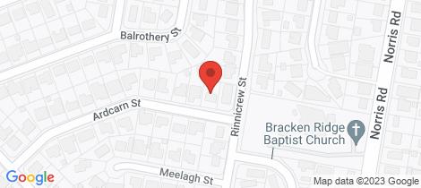 Location map for 28 Ardcarn Street Bracken Ridge