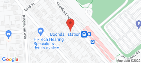 Location map for 187 Abderdeen Parade Boondall
