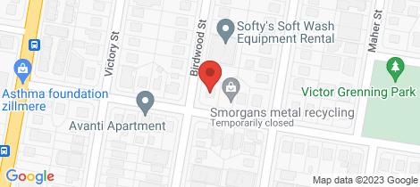 Location map for 28 Birdwood Street Zillmere
