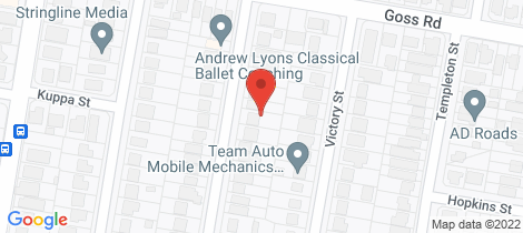 Location map for 22 Hulme Street Virginia