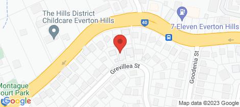 Location map for 25 Grevillea Street Everton Hills