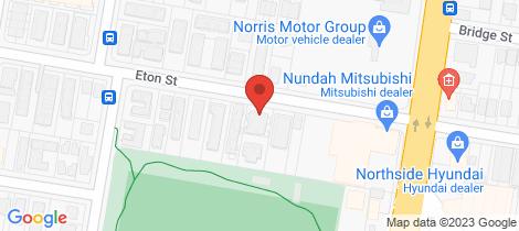 Location map for 1/60 Eton Street Nundah