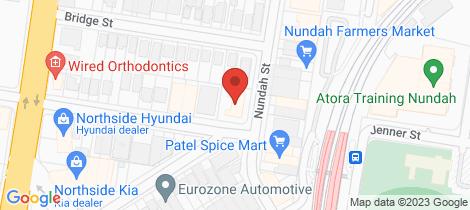 Location map for 703/22 Village Central Nundah
