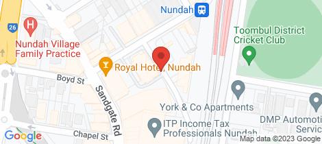 Location map for 203/1 Aspinall Street Nundah