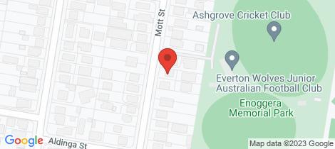 Location map for 87A Mott Street Gaythorne