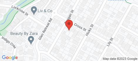 Location map for 28 Cross Street Mitchelton