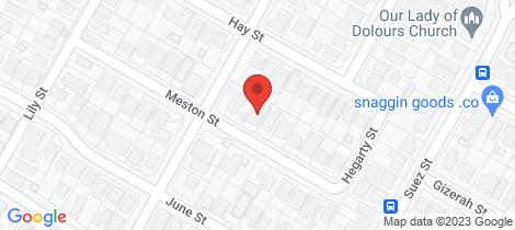Location map for 15 Meston Street Mitchelton