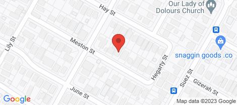 Location map for 11 Meston Street Mitchelton