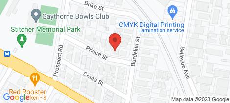 Location map for 5 Prince Street Gaythorne