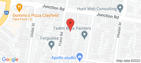 Location map for 45 Franz Road Clayfield