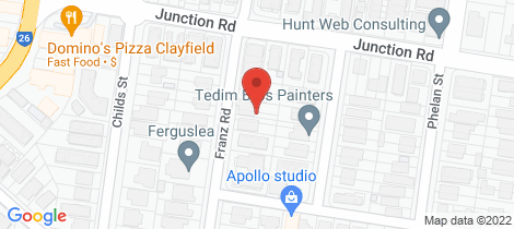 Location map for 45A Franz Road Clayfield