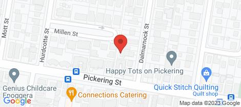 Location map for 3/10 Dalmarnock Street Enoggera