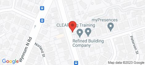 Location map for 14/519 Tingal Road Wynnum