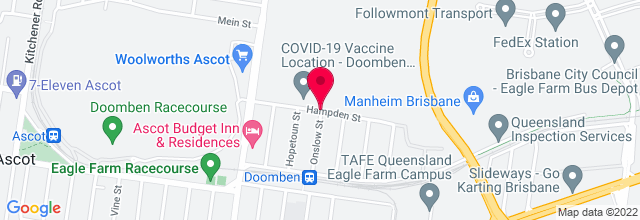 Map for Doomben Racecourse