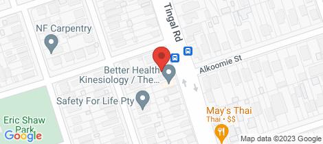 Location map for 350 Tingal Road Wynnum